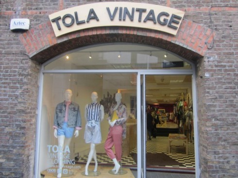 Tola Vintage, Temple Bar. Photo Credit: indublin.ie.