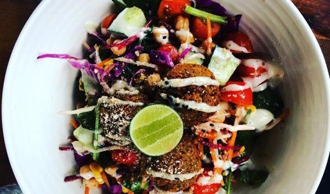 Falafel Salad. Yum! Photo Credit: Author.