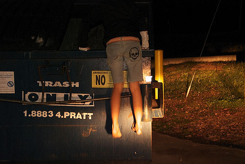 Dumpster Diving is a very effective way to stop food waste. Have you ever tried it? Photo Credit: angelatchou (Flickr)