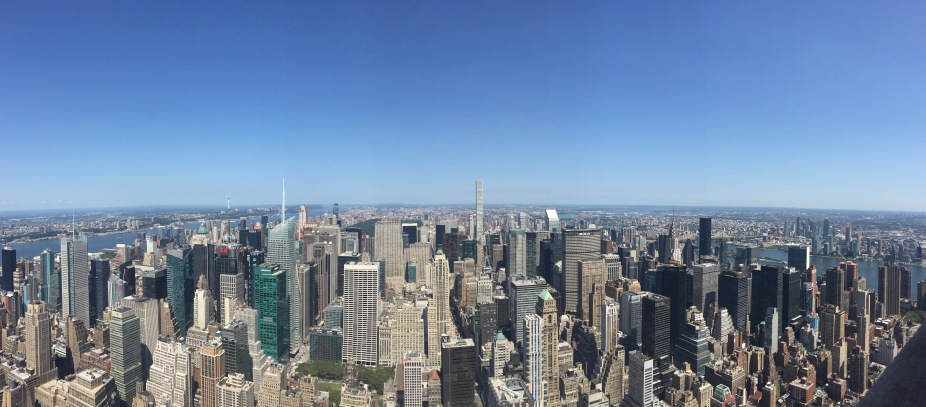 Start spreading the news...visiting NY? This city is massive so make a list of things you want to see. Photo Credit: Author.