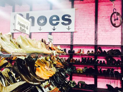 Shoe section at the Garment District.