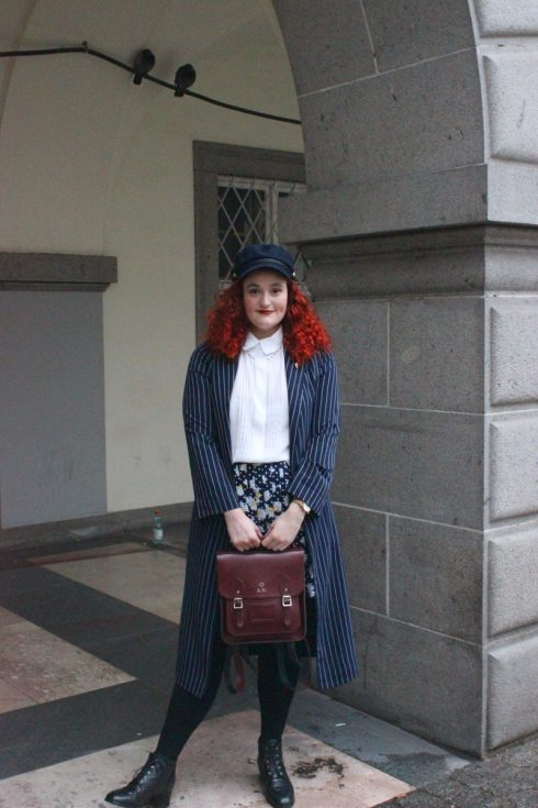Vintage school girl inspired outfit. Photo Credit: Author.